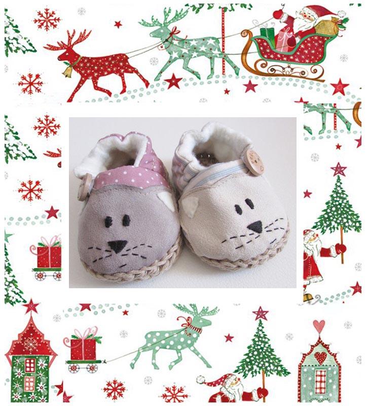 idées cadeaux noel-chaussons bébé 2