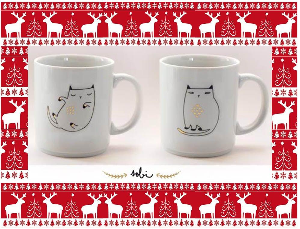 idées cadeaux noel-mug chat or 2