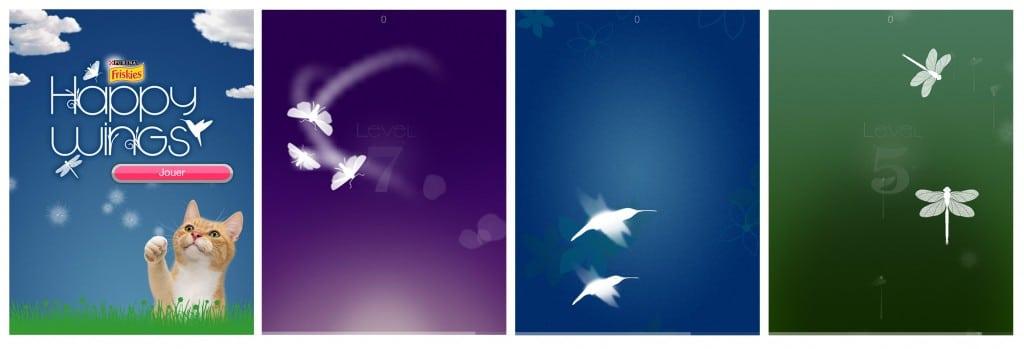 Happy wings. Purina Friskies