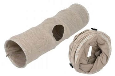 tunnel de jeu Natural pour chat- Zooplus- Absolument Chats