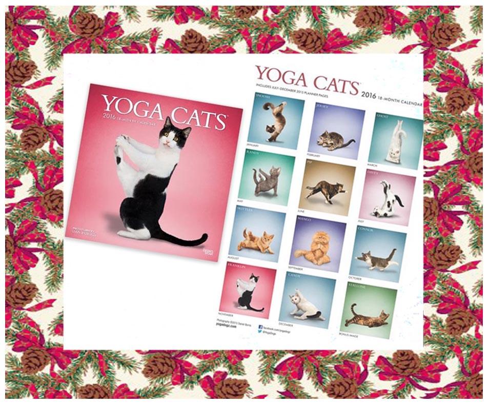 idées cadeaux noel-calendrier yoga cats 2