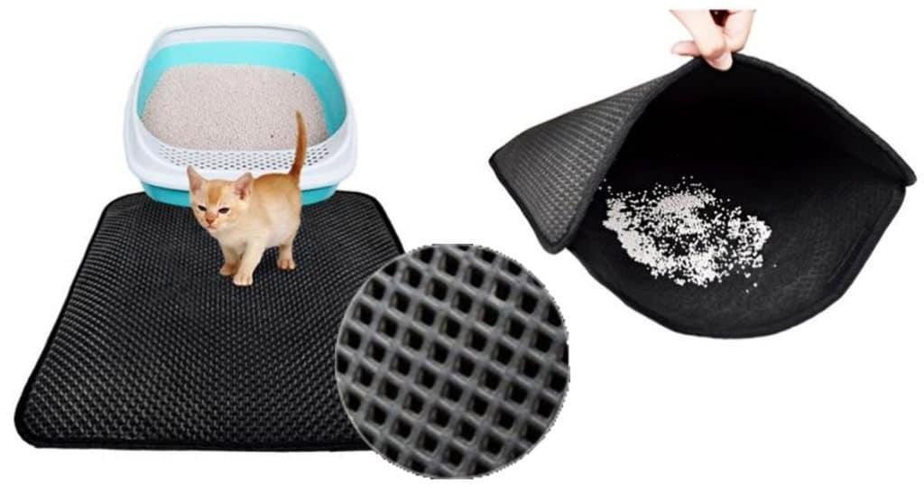 une astuce pour en finir avec les grains de liti re par terre absolument chats. Black Bedroom Furniture Sets. Home Design Ideas